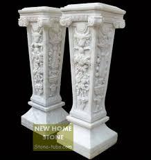 garden columns. Stone Columns Design Magnificent Square Column White Marble Hand Carved Garden On Sale Price T