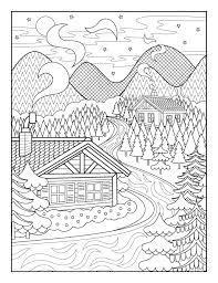 Alpine Lodge By Joanna Webster From The Amazing Creative Colouring
