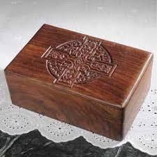 celtic cross carved box