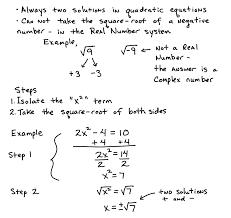 solve quadratic equations by square roots ideas of algebra 2 quadratic problems