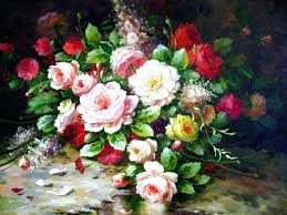 oil painting of flower flowers oil paintings oil painting of flower