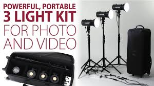 powerful portable 3 light kit for photo and the led100wb 3 light kit from fotodiox you