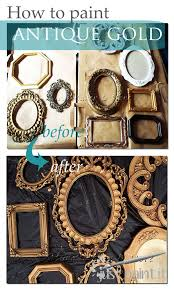 to paint an antique gold faux finish