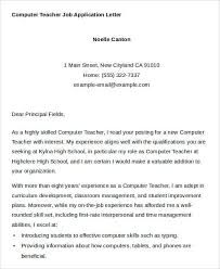 Best Solutions Of Application Letter For Computer Teaching Job Nice