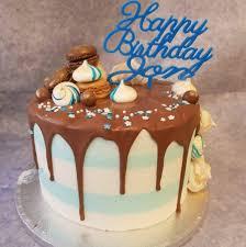 Drip Cake With Macarons Ravens Bakery Of Essex Ltd
