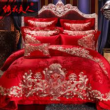 get ations lady mood for love knot embroidery chinese red wedding bedding ten sets of bedding set bedding