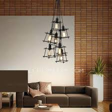 industrial home lighting. Best Of Industrial Style Lighting For Home Or Modern 7 Light Square Shaped Shade