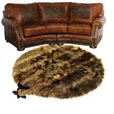 faux skin rug deer skin faux fur rug bear wolf accent throw carpet sheepskin fake lion