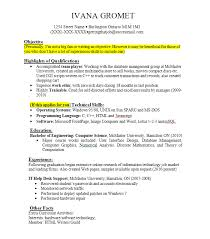 Resume Examples For Work Examples Of Resumes