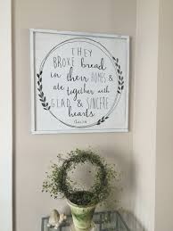 Wall Art Kitchen Decoration Wood Art They Broke Bread Acts 246 Framed Wood Sign The Bible