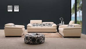 Microfiber Fabric Modern Piece Living Room Set Orlando Cream