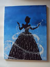 disney princess cinderella canvas acrylic painting 14x11 orig design