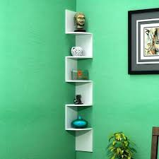 floating corner wall shelf zigzag mount rack shelves white laminated best s in ping corner zigzag wall shelf