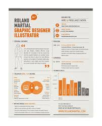Roland Martial creative resume template.