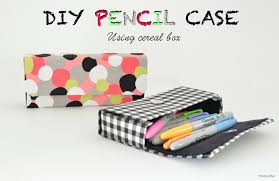 picture of diy pencil case using cereal box
