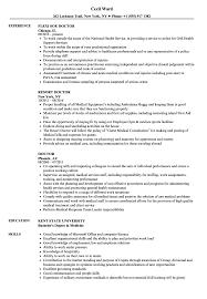 Sample Doctor Resume Doctor Resume Samples Velvet Jobs