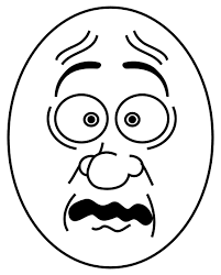 Small Picture Scared Face Coloring Page GetColoringPagescom