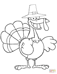 Small Picture Cartoon Pilgrim Turkey coloring page Free Printable Coloring Pages
