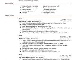 Home Daycare Resume Sample Unforgettable Full Time Nanny
