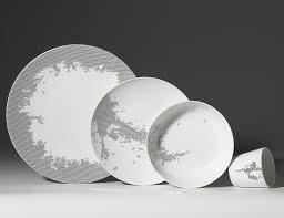 luxury porcelain tableware with modern design by non sans raison