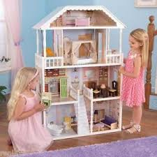 Barbie furniture for dollhouse Wooden Image Is Loading Newkidkraftsavannahdollhouse4levelsgirlsbarbie Ebay New Kidkraft Savannah Dollhouse Levels Girls Barbie Furniture Doll