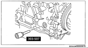 mazda cx7 need to align timing chain 08 cx7 i need marks rotate the crankshaft in the direction of the engine rotation and remove the cylinder block lower blind plug when the no 1 cylinder is at the point prior