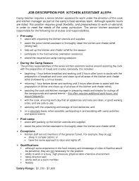 Line Cook Job Description Template Resume Duties Sample For Prep