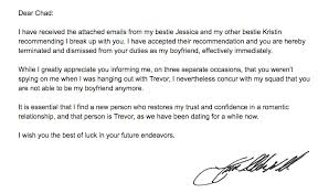 Breakup Letters Trump's Comey Letter as a Breakup Letter | Witty + Pretty