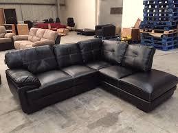 brand new black leather corner sofa in bury manchester gumtree