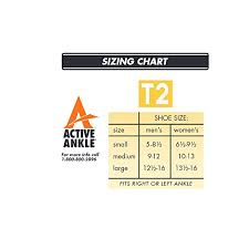 Active Ankle T2 Size Chart Active Ankle T2 Ankle Brace Small Buy Online In Uae