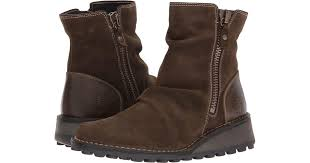 fly london mong944fly sludge olive oil suede rug women s boots in brown lyst