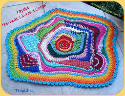 contemporary oval rag rug crochet pattern festooning