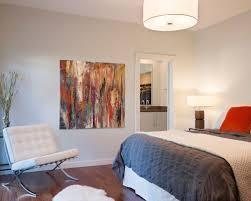 Example of a mid-sized minimalist master dark wood floor and brown floor  bedroom design