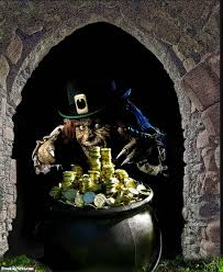 leprechaun with his pot of gold picturesleprechaun   his pot of gold
