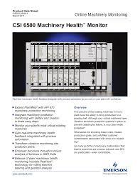 Csi 6500 Machinery Health Monitor Online Machinery