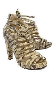 loeffler randall snakeskin leather strappy heels sz 6