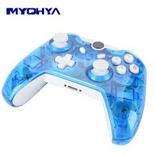 for xbox one controller pc for xbox one controler wireless bluetooth controller joystick pc win 7 8 10 transpa with led in gamepads from consumer