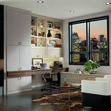 Home office cabinetry design Custom Cabinets Deck Out Desk To Meet Your Personal Needs With Our Stylish Office Cabinetry Masterbrand Cabinets Office Cabinets Home Office Design Masterbrand