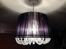 black lamp shade with beads chandelier style