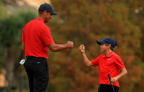 Though it's much more soccer than golf for tiger's daughter. Photos Ex Wife And Current Girlfriend Cheer As Tiger Woods And Son Charlie 11 Compete Together National Post