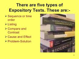 expository texts 3 there are five types of expository