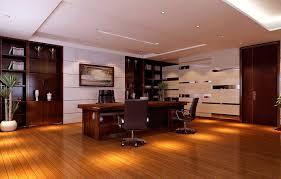 wood floor office. Modern Ceo Office Interior Design - Slightly Reflective Floor Brightens Up A Wood Theme, Light