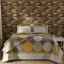 Designer modern gray yellow large circles queen king quilt bedding ... & Designer modern gray yellow large circles queen king quilt bedding set Adamdwight.com