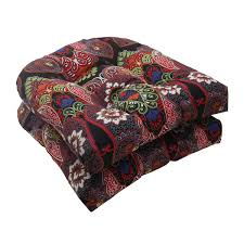 Pillow Perfect Outdoor Marapi Wicker Seat Cushions Set of 2