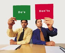 The Do S And Don Ts Of An Interview Dos And Donts During The Interview Social Weblog