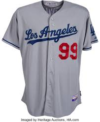 Dodgers Hyun-jin 2013 Auctions Angeles Ryu Worn 82559 Rookie Heritage Game Lot Uniform Los