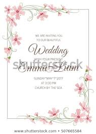 Wedding Cards Template Marriage Wedding Invitation Card Template Pink Stock Vector Royalty