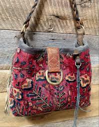 carpet bag. front: my own j. augur carpet hobo bag. bag