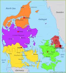 denmark map  map of denmark  annamapcom