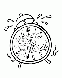 back to school clock coloring page for kids school coloring pages printables free
